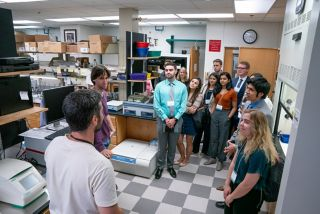 Participants touring one of our laboratories.