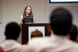 Chelsie Greene (Washington State University) giving her oral presentation.