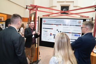 Anthony Isenhour (University of Richmond) giving his poster presentation.