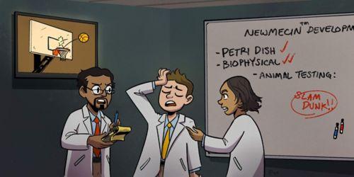 cartoon of scientists