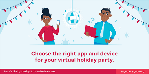 Choosing the right app and device for your virtual holiday party