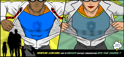 illustration of clinicians as superheroes