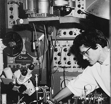 image of betty roberts in lab