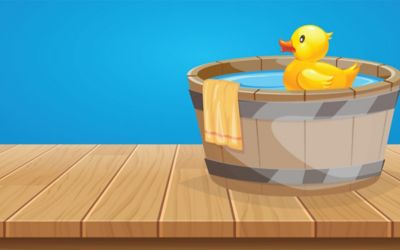 Proteins: Playing with molecular rubber duckies