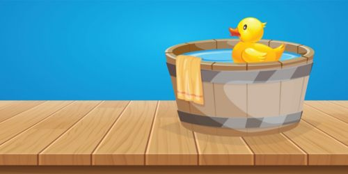 graphic of rubber duck in tub