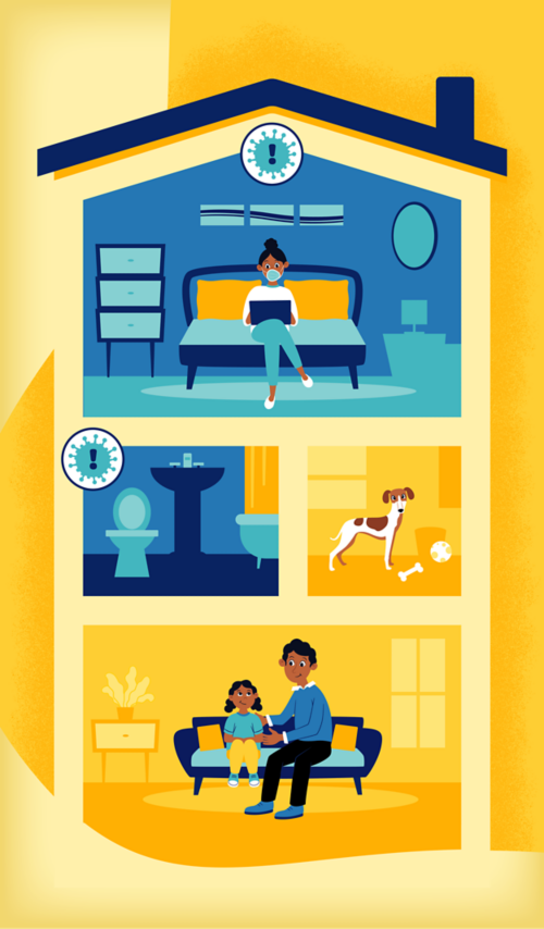 Home isolation means that a patient has confirmed or suspected COVID-19 and is being cared for at home. Patients should stay at home and be isolated from others until symptoms have improved and they are no longer contagious.