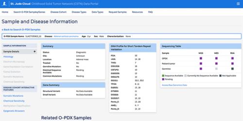 screenshot of network portal
