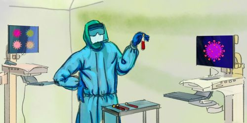 image of medical professional wearing protective gear