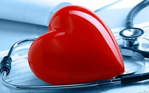 Heart atop a stethoscope