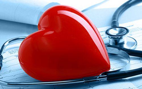 Heart on stethoscope