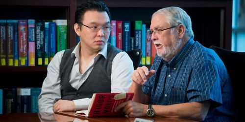 Image of Charles Rock, PhD, (right) and Jiangwei Yao, PhD.