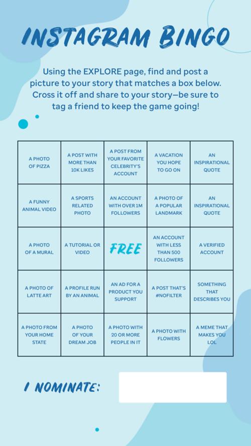 Instagram Bingo