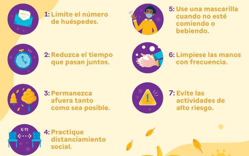 7 pasos para un día de Acción de Gracias más seguro