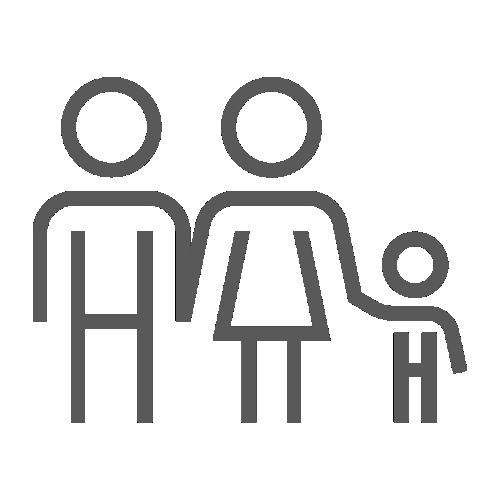 ícono de una familia