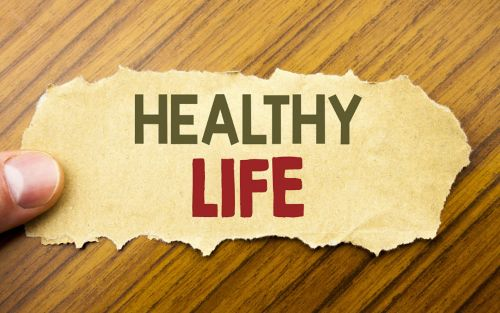 image of healthy life as text