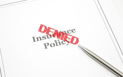 image of denied insurance policy