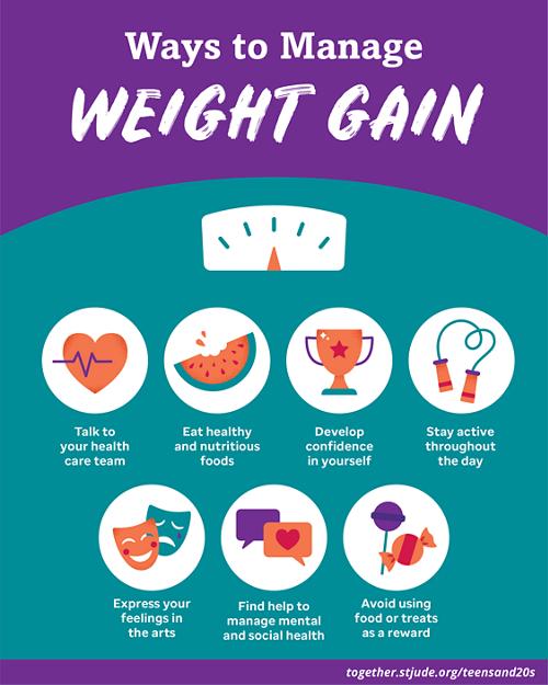 ways to manage weight gain