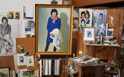 image of painting of Martine Roussel