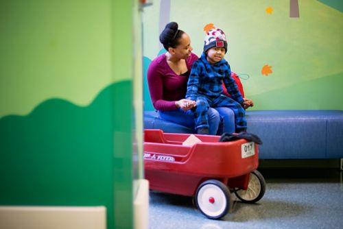A wagon or wheelchair can help patients get around safely if they have trouble walking on their own or get tired easily.
