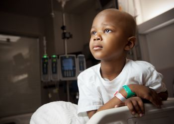 Young male patient in hospital room