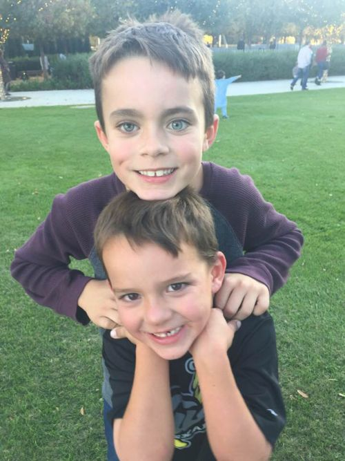 Retinoblastoma survivor - boy with brother