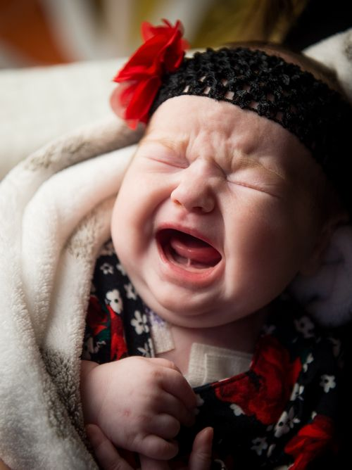 As part of normal communication development, your child may express her emotions and needs through crying.