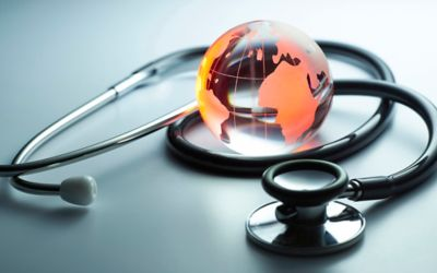 Red Globe and stethoscope