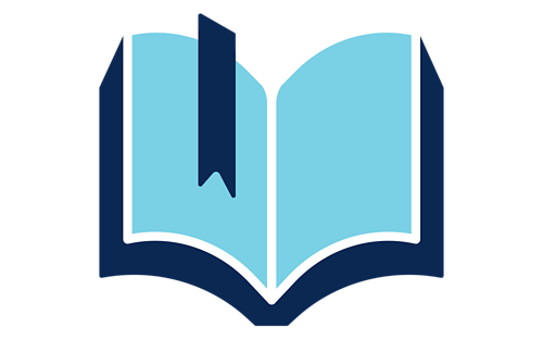 Icon of a book with a bookmark
