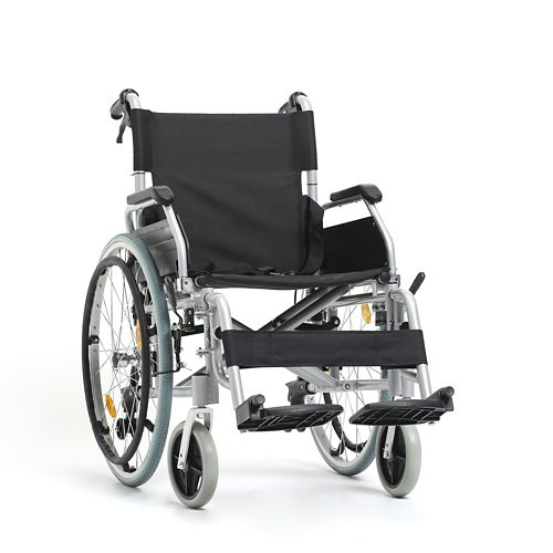 A standard wheelchair is pre-made with set features.