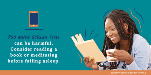 Too much screen time can be harmful. Consider reading a book or meditating before falling asleep.