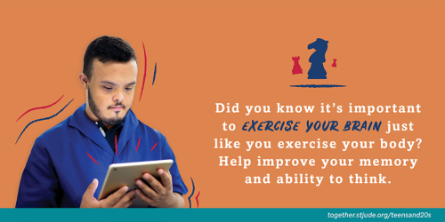 Did you know it's important to exercise your brain just like you exercise your body? Help improve your memory and ability to think.