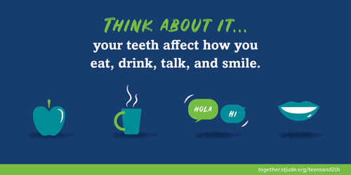 Think about it... your teeth affect how you eat, drink, talk, and smile.