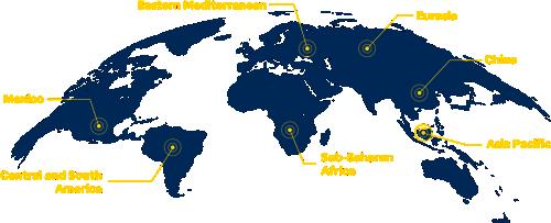 Map of St. Jude Global Regional Programs
